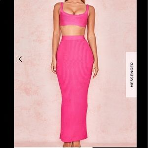 ⚜️ House of CB neon pink two piece bandage set